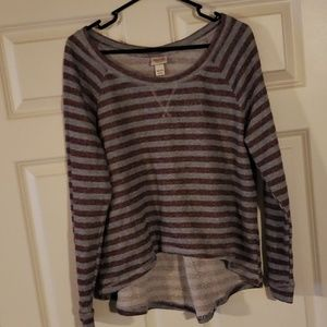 Striped sweater shirt
